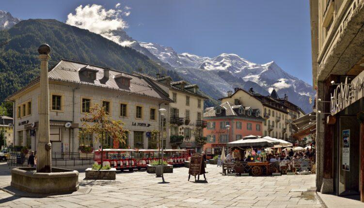 Centre of Chamonix town